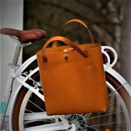 Skórzana damska torba rowerowa