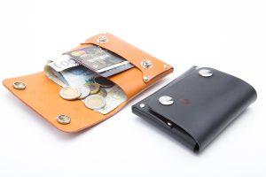 Skórzany portfel na karty, monety i dowód rejestracyjny