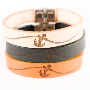 skórzana bransoletka na prezent dla kapitana