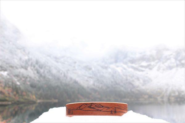 skórzana bransoletka na prezent dla miłośnika gór