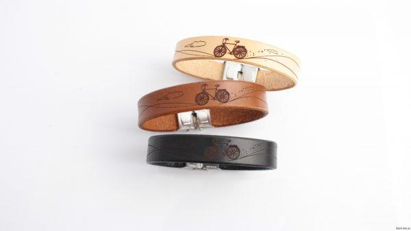 bransoletka z naturalnej skóry na prezent dla kolarza