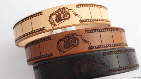 bransoletka z naturalnej skóry bydlęcej dla fotografa