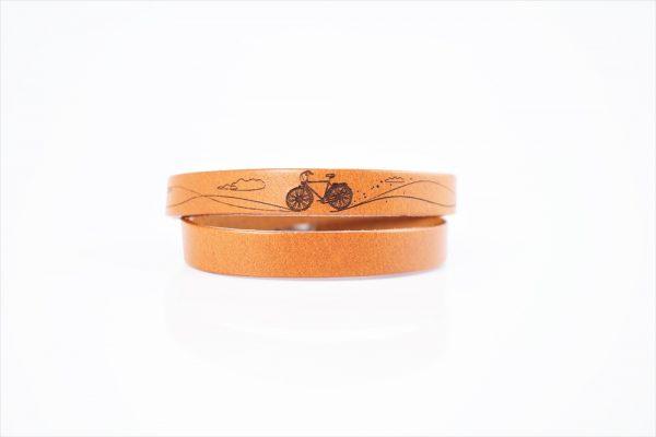 skórzana bransoletka z grawerem