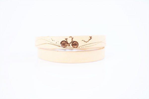 skórzana bransoletka dla rowerzysty