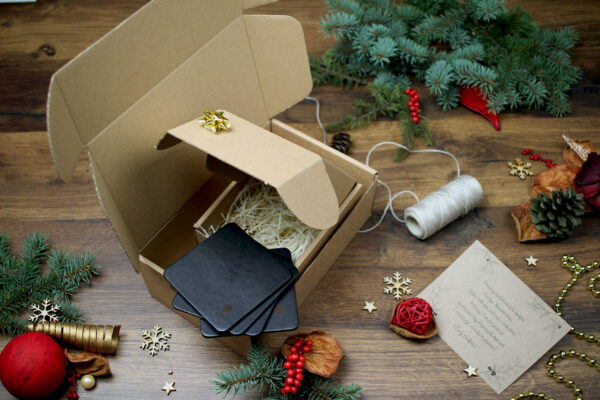 ekologiczne opakowania na prezent świąteczny