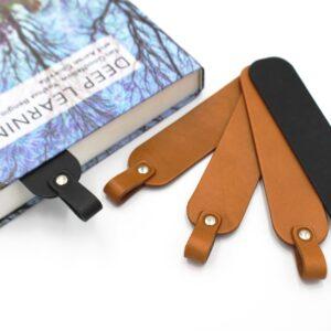 zestaw skórzanych zakładek do książki